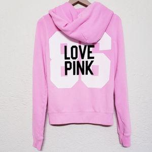 Victoria's Secret PINK zip hoodie velvet embossing